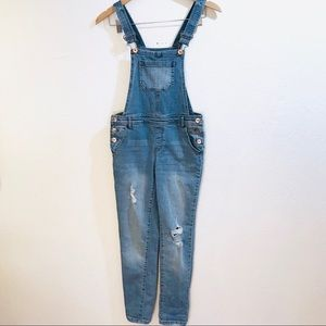 [Vanilla Star] Trendy Denim Skinny Overalls